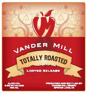 Vander Mill Totally Roasted Cider beer Label Full Size