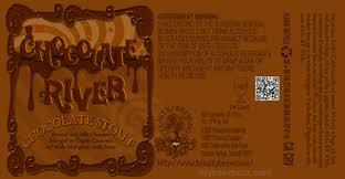 Trinity Chocolate River beer Label Full Size