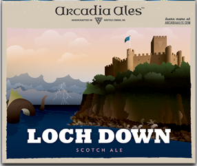 Arcadia Loch Down beer Label Full Size