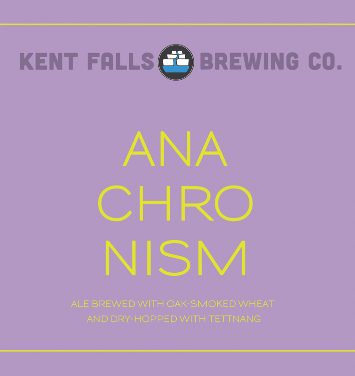 Kent Falls Anachronism beer Label Full Size