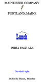Maine Lunch IPA Beer