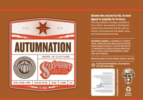 Sixpoint Autumnation beer Label Full Size