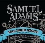 Sam Adams 13th Hour Stout beer