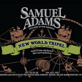 Sam Adams New World beer Label Full Size