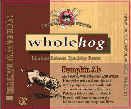 Stevens Point Whole Hog Pumpkin Ale Beer