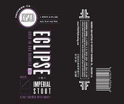 FiftyFifty Imperial Eclipse Vanilla beer Label Full Size