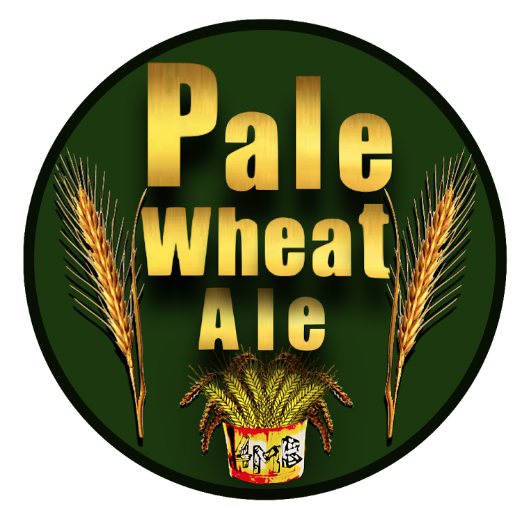 Four Mile Pale Wheat beer Label Full Size