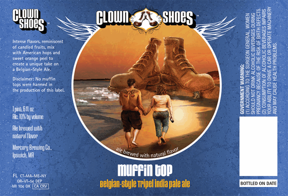 Clown Shoes Muffin Top beer Label Full Size
