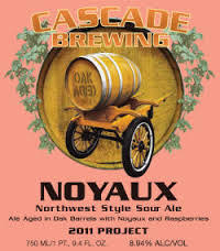 Cascade Noyaux 2014 beer Label Full Size