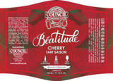 Council Beatitude Tart Cherry Saison beer