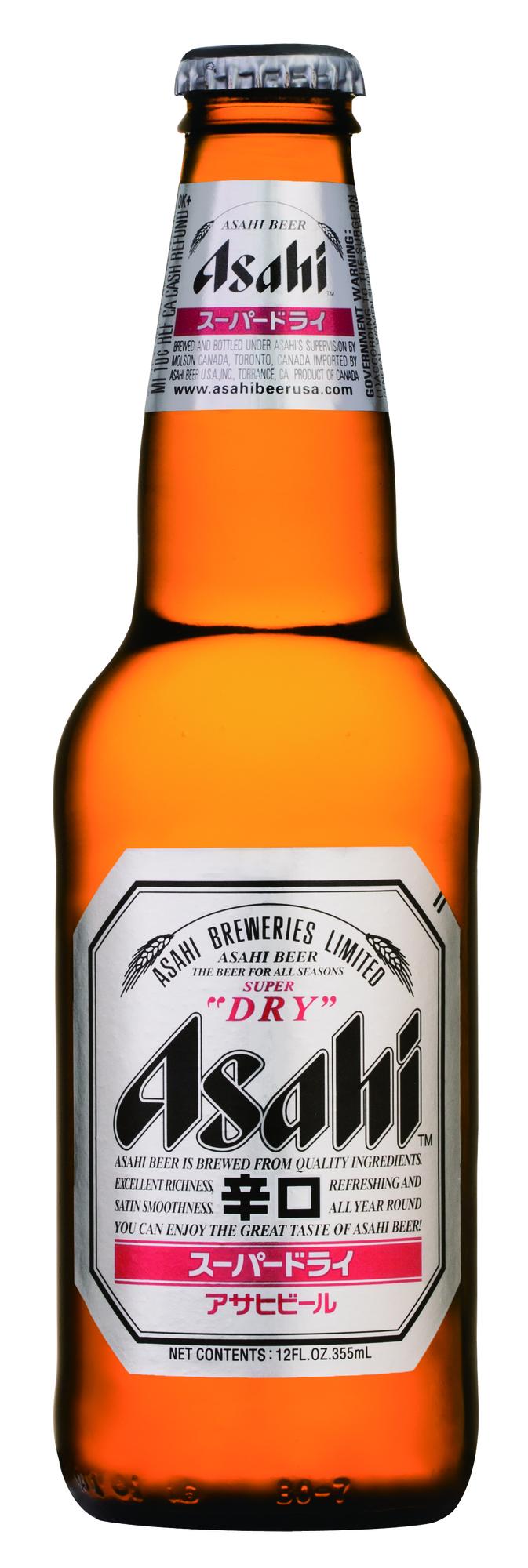 Asahi Super Dry beer Label Full Size