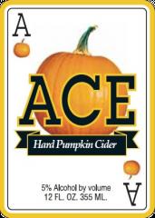Ace Pumpkin Cider beer Label Full Size