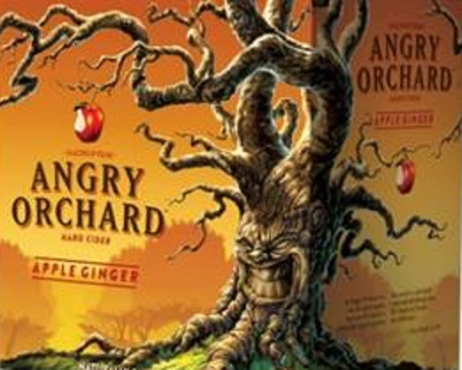 Angry Orchard Ginger Apple Cider beer Label Full Size