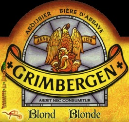 Grimbergen Blonde beer Label Full Size