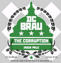 DC Brau The Corruption beer Label Full Size