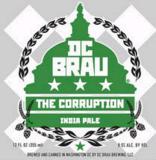 DC Brau The Corruption beer