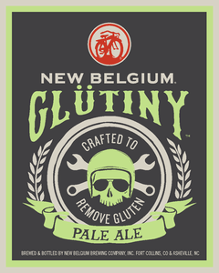 New Belgium Glütiny Pale Ale beer Label Full Size