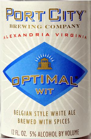 Port City Optimal Wit beer Label Full Size