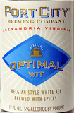 Port City Optimal Wit Beer