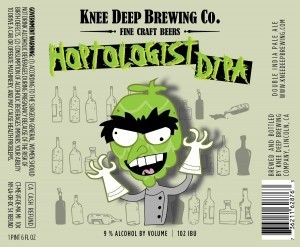 Knee Deep Hoptologist DIPA beer Label Full Size