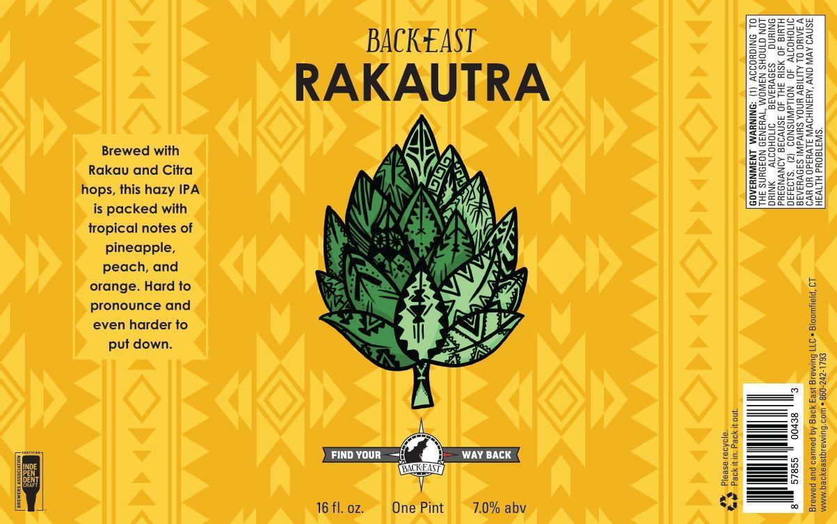 Back East Rakautra IPA beer Label Full Size