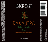 Back East Rakautra IPA beer