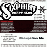 Sixpoint Occupation Ale beer