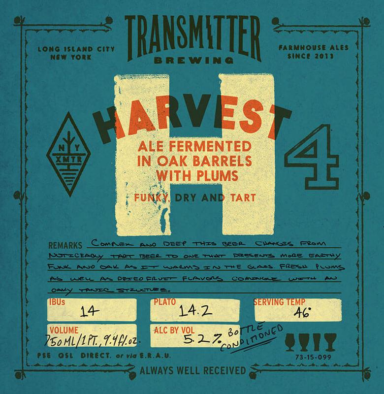 Transmitter H4 Sour Plum beer Label Full Size
