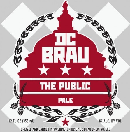 DC Brau The Public beer Label Full Size