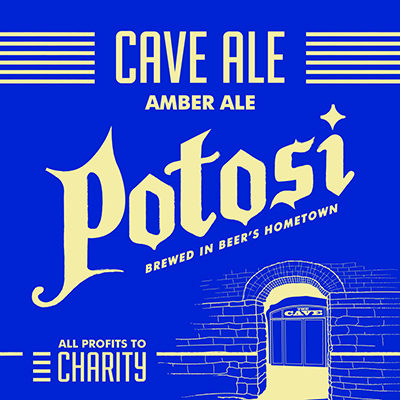 Potosi Pure Malt Cave Ale beer Label Full Size