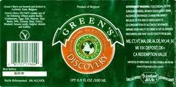 Green's Discovery Amber beer Label Full Size