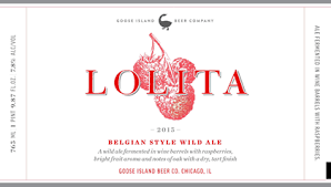 Goose Island Lolita Raspberry Sour 2015 beer Label Full Size