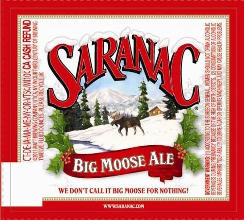 Saranac Big Moose Ale beer Label Full Size