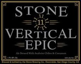 Stone Vertical Epic 111111 Beer