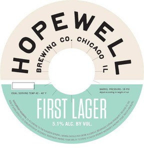 Hopewell First Lager beer Label Full Size