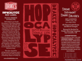 Drake's Hopocalypse Red Label beer