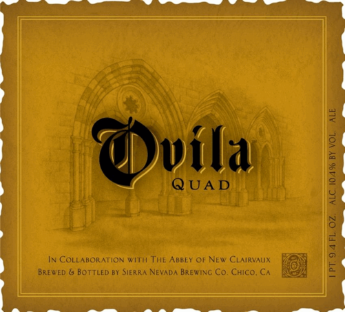 Sierra Nevada Ovila Quad beer Label Full Size