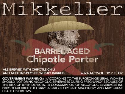 Mikkeller Chipotle Porter Barrel Aged beer Label Full Size