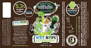 Blue Point Wet Hops Experiment beer Label Full Size