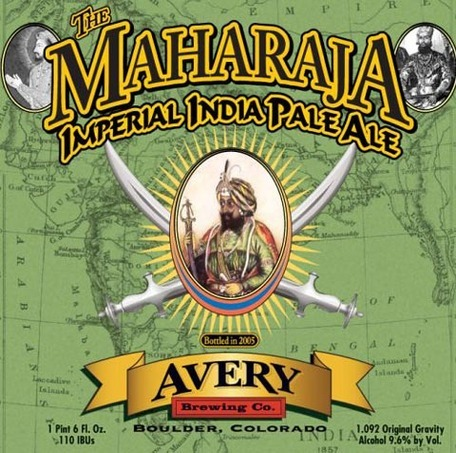 Avery The Maharaja beer Label Full Size