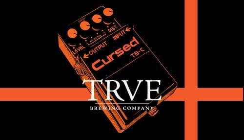 TRVE Cursed beer Label Full Size