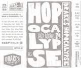 Drakes Hopocalypse White Label beer