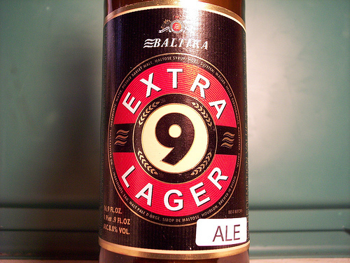 Baltika 9 Extra Lager beer Label Full Size