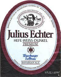 Julius Echter Hefe-Weissbier Dunkel beer Label Full Size