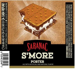 Saranac S'more Porter beer Label Full Size