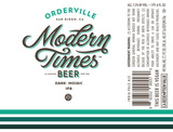 Modern Times Orderville beer