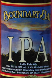 Boundary Bay IPA beer Label Full Size
