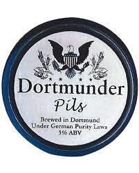 Dortmunder Pilsner beer Label Full Size