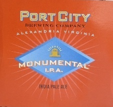 Port City Monumental IPA beer Label Full Size
