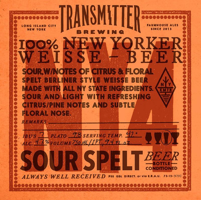 Transmitter NY4 Berliner Weisse beer Label Full Size
